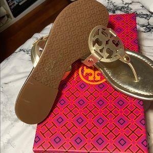Tory Burch Shoes - NIB Tory Burch Miller Spark Gold